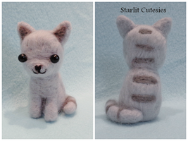 Needle Felted Grey Kitty! by StarlitCutesies