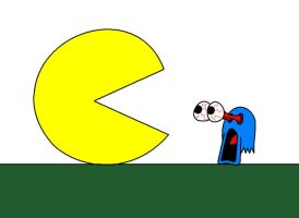 Super Pac-Man cartoon style by AshumBesher
