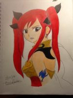 Erza Scarlet(unfinished) by Rominaisawesome