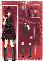 .:Reyra Punk Lolita Desing:. Reference sheet~ by Kuro-Rey