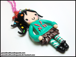 Vanellope Necklace by GrandmaThunderpants