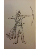 Ancient Beast: Bounty Hunter (1) - Archer Sketch by 01-silver-glass