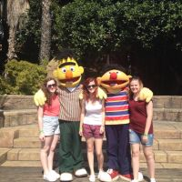 Us with Bert and Ernie by OliviaWhyteART