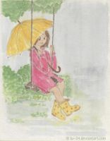 A swing in the pouring rain by lu--24