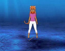 RP Starter - Drowning Catgirl by twentysevenandahalf
