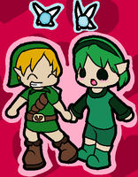 Young Link and Saria by Ninten64Fan