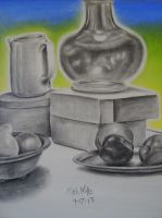 Charcoal/Pastel Drawing 8 by jesus-at-art