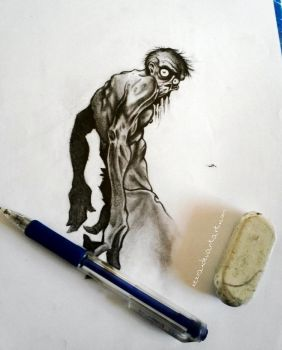 zombie drawing by Xezra