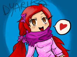 A drawing of a girl in Facebook! :D by SaraMangaka