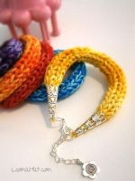 Loom Knit Bracelet by LoomaHat
