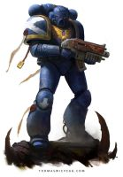 Space Marine by thomaswievegg