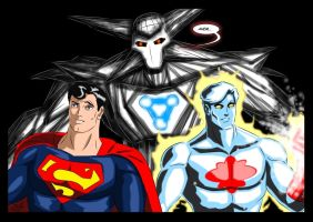 Superman and Captain Atom - Men of Steel by adamantis