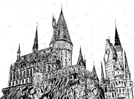 Harry Potter ..Hogwarts.. by ladyjart