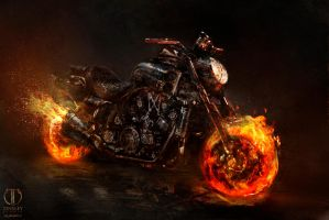 Ghost Rider Spirit of Vengeance bike Concept by JSMarantz