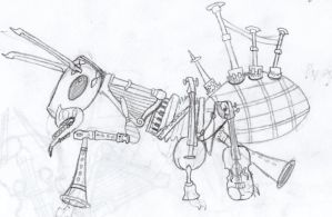 [sketches] musical ant by Thylanos