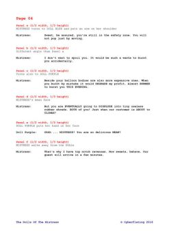 The Dolls Of The Mistress - Script for Page 4 by TheInflater