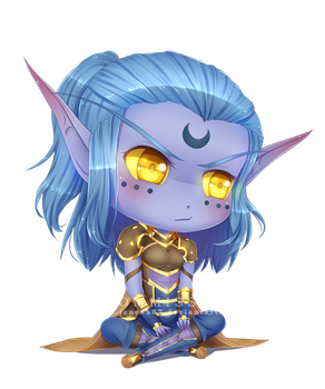 WoW Commission: Chibi Keryneth by Jenova87