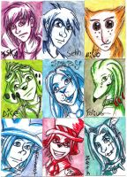 Sketch Cards by DislocatedPenguin