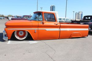 Skirted Orange Chevy Pick Up by DrivenByChaos