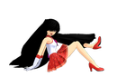 [MMD] Sailor Mars doing a model pose by MarcosLucky96