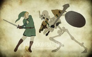 Link vs Stalfos by GoombaLink