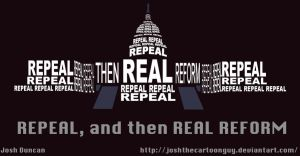 Repeal, and then Real Reform by joshthecartoonguy