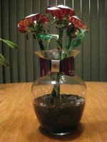 Recycled Pop Can Red Roses by Christine-Eige