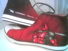 Deadpool shoes by Innom