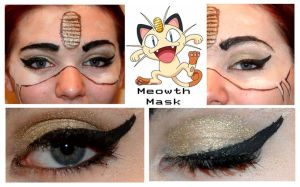 Pokemakeup Meowth Mask by nazzara