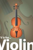 V is for Violin by ChewedKandi