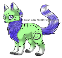 2 Point Wolf Adoptable by Theanimaldrawer81604