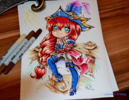 Chibi Captain Fortune by Lighane