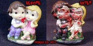 Zombie Wedding cake Topper com by Undead-Art