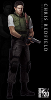 Resident Evil 20th Anniversary - Chris Redfield by WeskerFan1236