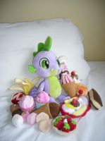 BABW MLP Spike plush (with food!) by artjuggler