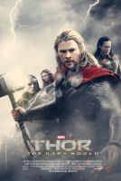 Thor The Dark World theatrical fan poster by crqsf
