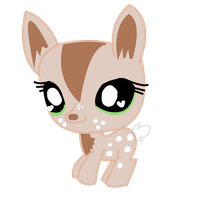 LPS OC- Cookie the fawn by LittleSnowyOwl