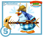 Snowmad Tuck Card #5 * Variation: Papa Painguin by UncleLaurence
