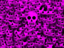 Pink Skulls by D-Palm