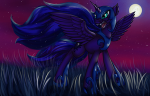 Collaboration Commission Example:  Nightmare Moon by JinYaranda