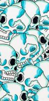 Skulll by after-the-funeral