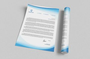 Corporate Letterhead vol.22 with MS Word DOC/DOCX by nazdrag