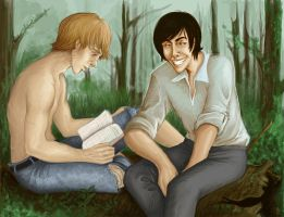 the forrest- remus and sirius by Lesmau