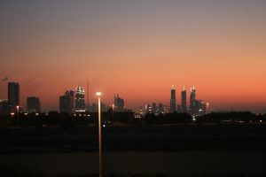 Sunset in Dubai by pattymouse