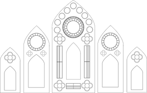 Stained Glass Window Template - Five Panel by Maleficent84