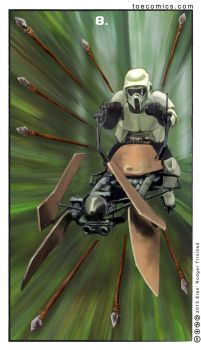 Star Wars Tarot: 8 of Staves by theory-of-everything