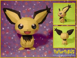 Spiky-eared Pichu Papercraft by Lyrin-83
