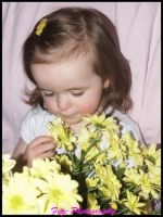 Gabriella and yellow flowers by moonduster