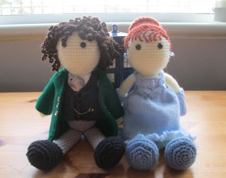 Doctor Who: Eight and Grace Crochet Dolls by fourthimbles
