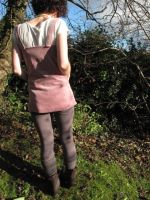 Cordroy Pink Tunic - Back by sewn-by-honeybirds
